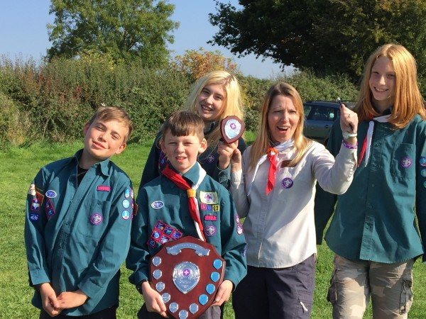 43rd Scouts, winners of the 2015 Dave Smart district challenge camp,